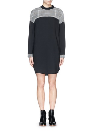 Main View - Click To Enlarge - 3.1 Phillip Lim - Glen plaid panel mock neck twill dress