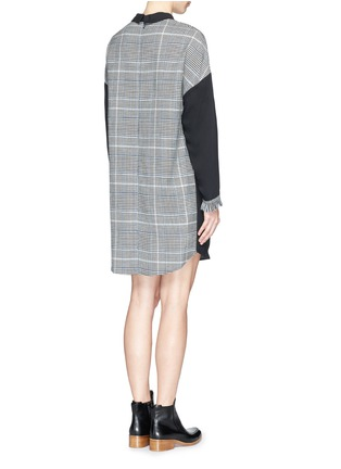 Figure View - Click To Enlarge - 3.1 Phillip Lim - Glen plaid panel mock neck twill dress