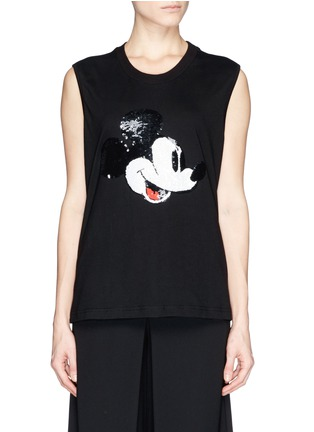 Main View - Click To Enlarge - MARKUS LUPFER - x Disney 'Vintage Mickey' sequin Hetty tank top