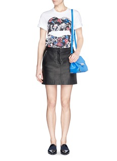MARKUS LUPFER'Graphic Floral Lip Smacker' print T-shirt