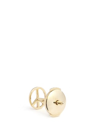 Detail View - Click To Enlarge - Loquet London - 14k yellow gold peace single earring - Serenity