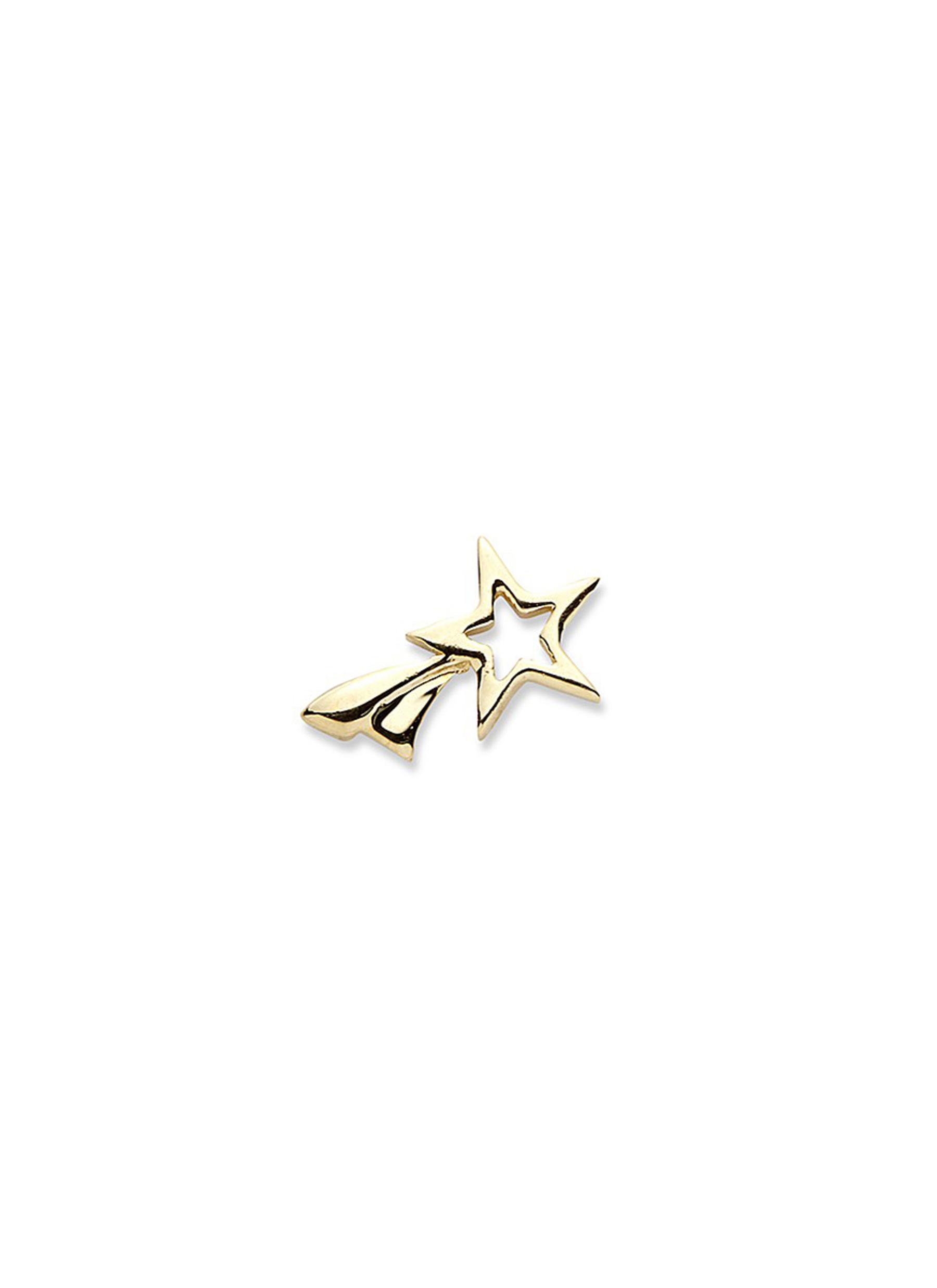 LOQUET LONDON 14k yellow gold shooting star single earring - Make a Wish