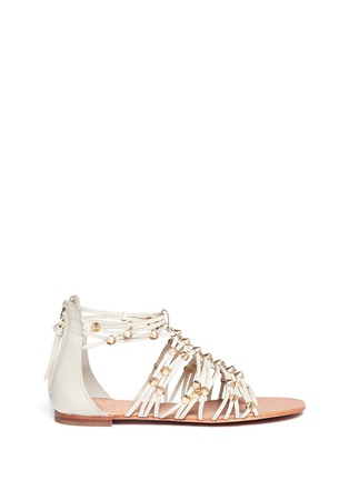 Main View - Click To Enlarge - Ash - 'Medusa' studded leather gladiator sandals