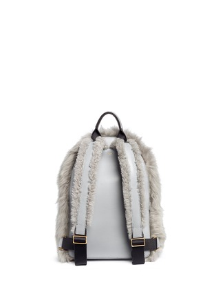 Detail View - Click To Enlarge - Anya Hindmarch - 'Eyes' mini shearling leather backpack