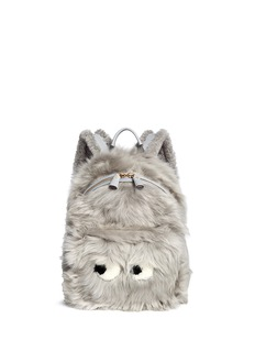 Anya Hindmarch 'Eyes' mini shearling leather backpack