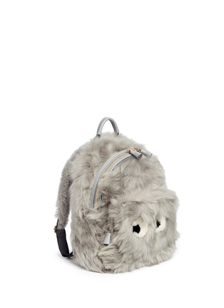 Figure View - Click To Enlarge - Anya Hindmarch - 'Eyes' mini shearling leather backpack
