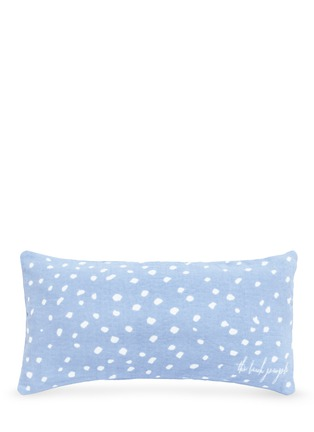 Main View - Click To Enlarge - The Beach People - 'Escape' inflatable insert polka dot print beach cushion