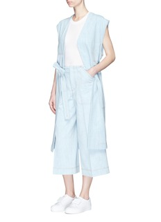 Acne Studios 'Orrin' satin patch denim long vest