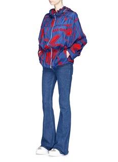 Stella McCartney'Freda' flocked velvet 'Thanks Girls' slogan jacket