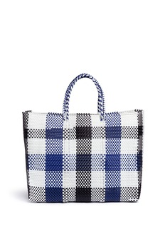 TrussLarge woven plaid PVC tote