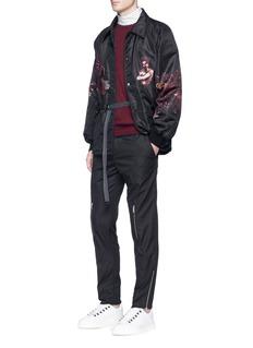 Lanvin'Street Life' print coach jacket