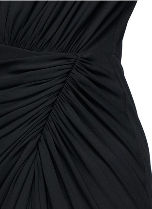 Detail View - Click To Enlarge - Givenchy Beauty - Keyhole drape front jersey crepe gown