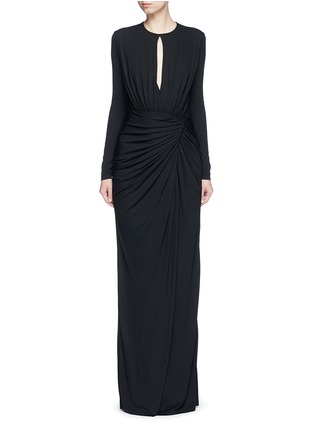 Main View - Click To Enlarge - Givenchy Beauty - Keyhole drape front jersey crepe gown