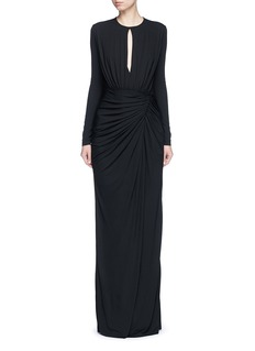 GIVENCHYKeyhole drape front jersey crepe gown
