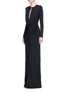 Givenchy Keyhole drape front jersey crepe gown