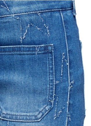 Detail View - Click To Enlarge - Stella McCartney - Distressed star kick flare denim pants