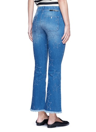 Back View - Click To Enlarge - Stella McCartney - Distressed star kick flare denim pants