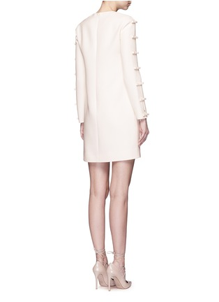 Back View - Click To Enlarge - Valentino - Split bow sleeve Crepe Couture dress