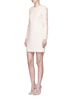 Valentino Split bow sleeve Crepe Couture dress
