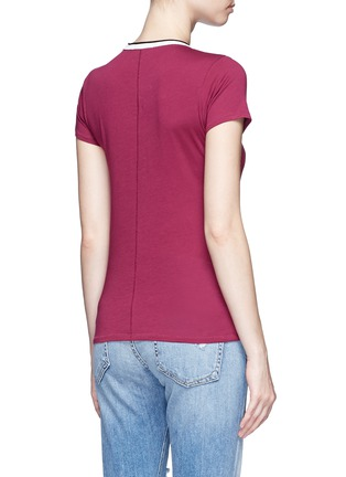Back View - Click To Enlarge - rag & bone/JEAN - Contrast rib crew neck T-shirt