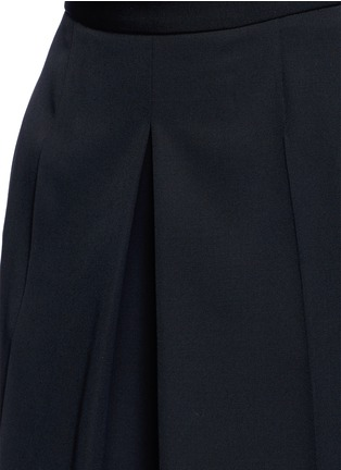 Detail View - Click To Enlarge - Alexander McQueen - Wool grain de poudre wide leg pants
