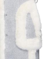 Faux fur wool blend felt overcoat