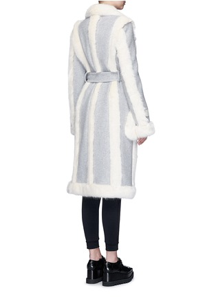 Back View - Click To Enlarge - Stella McCartney - Faux fur wool blend felt overcoat