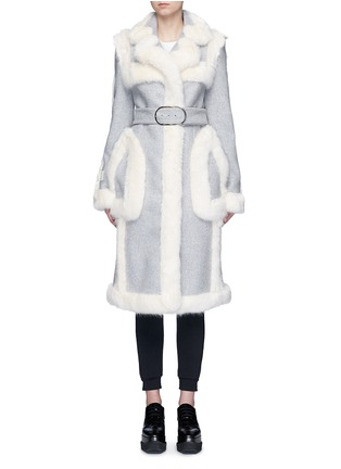 Main View - Click To Enlarge - Stella McCartney - Faux fur wool blend felt overcoat