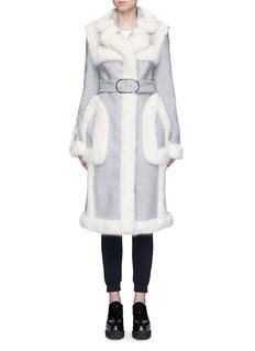 Stella McCartneyFaux fur wool blend felt overcoat