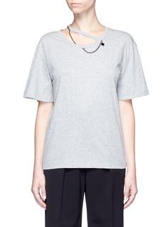 STELLA MCCARTNEY'Falabella' chain cutout neck T-shirt