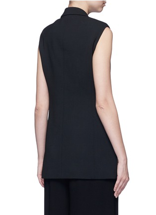 Back View - Click To Enlarge - Stella McCartney - Side zip wool crepe waistcoat