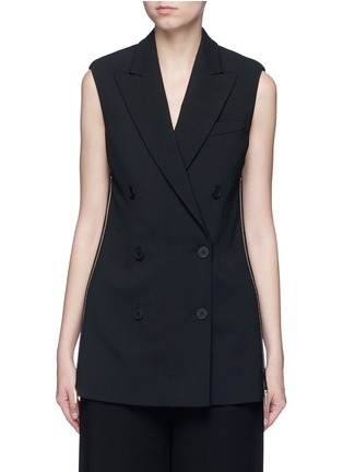 Main View - Click To Enlarge - Stella McCartney - Side zip wool crepe waistcoat
