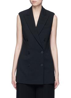 Stella McCartneySide zip wool crepe waistcoat
