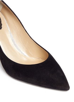 Detail View - Click To Enlarge - René Caovilla - 'Decollette' suede pumps