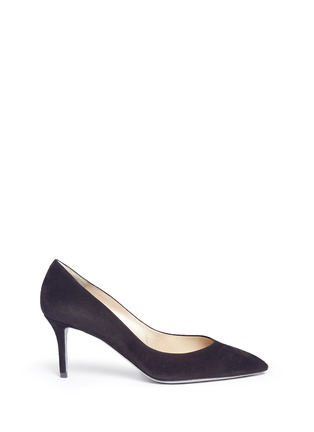 Main View - Click To Enlarge - René Caovilla - 'Decollette' suede pumps