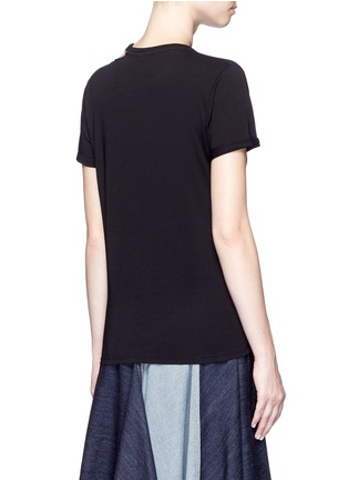 Back View - Click To Enlarge - Stella McCartney - 'Falabella' chain cutout shoulder classic T-shirt