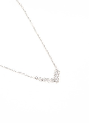 Detail View - Click To Enlarge - CZ by Kenneth Jay Lane - Cubic zirconia V pendant necklace
