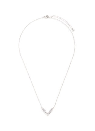 Main View - Click To Enlarge - CZ by Kenneth Jay Lane - Cubic zirconia V pendant necklace