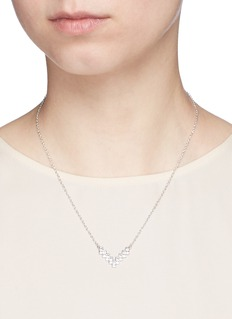 CZ by Kenneth Jay LaneCubic zirconia V pendant necklace