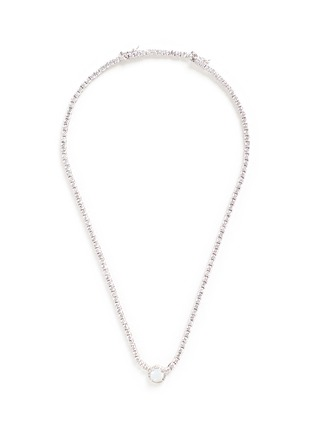 Main View - Click To Enlarge - CZ by Kenneth Jay Lane - Round cut milky cubic zirconia pendant choker necklace