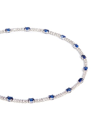 Detail View - Click To Enlarge - CZ by Kenneth Jay Lane - Oval cut cubic zirconia necklace