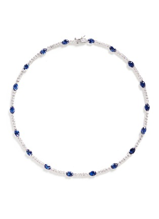 CZ by Kenneth Jay Lane-Oval cut cubic zirconia necklace