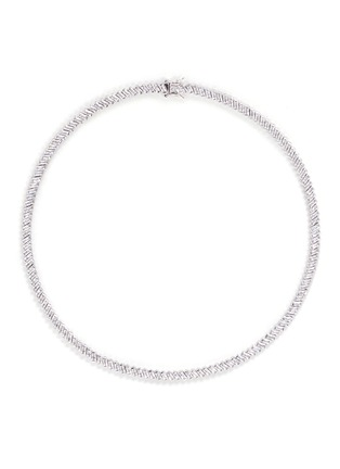 Main View - Click To Enlarge - CZ by Kenneth Jay Lane - Baguette cut cubic zirconia choker necklace