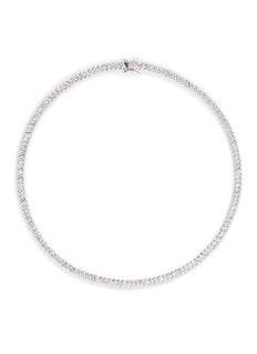 CZ by Kenneth Jay LaneBaguette cut cubic zirconia choker necklace