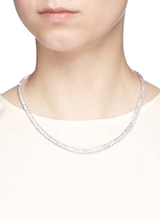 CZ by Kenneth Jay Lane Baguette cut cubic zirconia choker necklace