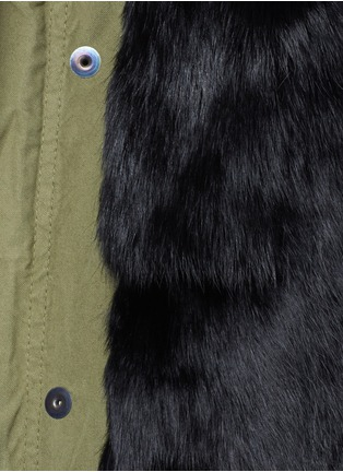 Detail View - Click To Enlarge - Mr & Mrs Italy - 'Army Mini' raccoon trim hooded rabbit fur parka