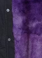 'Mini' raccoon trim hooded rabbit fur parka