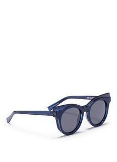 self-portraitx Le Specs 'Edition Three' acetate cat eye sunglasses