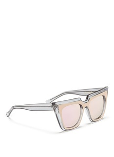 self-portrait x Le Specs 'Edition One' layered acetate cat eye mirror sunglasses