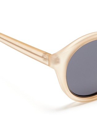 Detail View - Click To Enlarge - self-portrait - x Le Specs 'Edition Four' frosted acetate round sunglasses